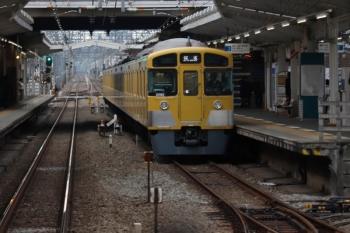 2020年1月26日 15時36分ころ。清瀬。2番ホームに停車中の2091Fの回送列車。