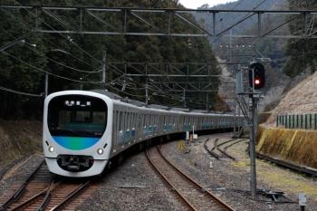 2020年1月26日 10時39分ころ。西吾野。回送されてきた38105F。復路1本目の臨時列車になりました。