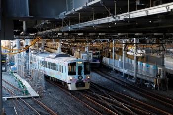 2020年2月1日 10時57分ころ。池袋。左端の電留線復帰工事も始まった池袋駅から4009F(52席)が発車。