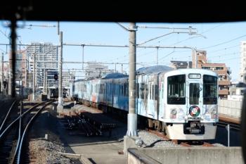 2020年2月1日 9時15分ころ。練馬。引き上げ線に入った40009Fの回送列車。