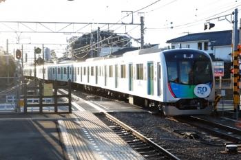 2020年2月9日 7時15分ころ。狭山ケ丘。電留線から発車した40151Fの上り回送列車。