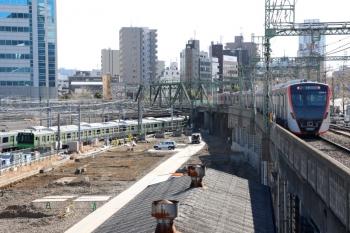 2020年2月9日 12時53分ころ。品川。山手線の電留線は更地となって、京急線には都の新型車両が増えてました。