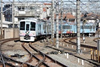 2020年2月11日 11時33分ころ。所沢。4番ホームへ到着する4009Fの下り列車。