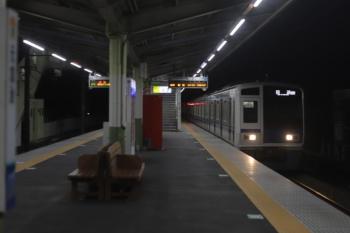 2020年2月28日 22時32分ころ。元加治。6152Fの下り回送列車(08M運用)。