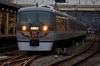 2020年2月29日 17時15分頃。仏子。中線から発車する10110Fの下り回送列車。