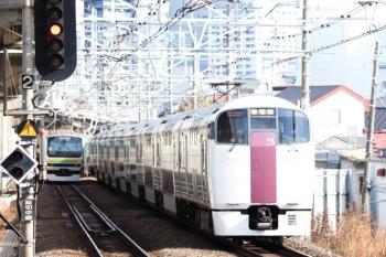 2020年3月3日 9時8分ころ。西大井。215系の戻しの下り回送列車。