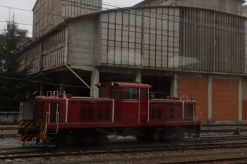 2020年3月8日 16時49分ころ。武州原谷。構内入換に使われているはずの凸形ディーゼル機関車。