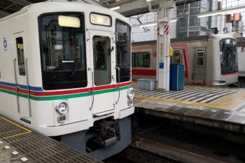 2020年3月14日。飯能。秩父鉄道から直通の4015Fほかの6002レと東急4103Fの1718レ。