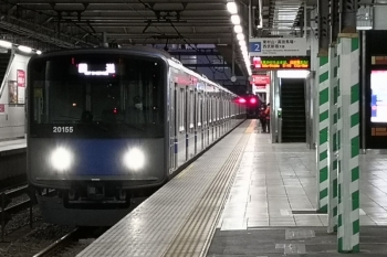 2020年3月15日 5時38分。所沢。20155Fの上り回送列車。