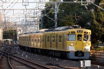 2020年4月3日 6時9分ころ。小平。4番ホームを通過する2401F+2507F+2525Fの上り回送列車。