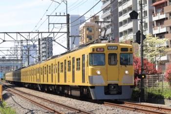 2020年4月10日。高田馬場〜下落合。2407F+2001Fの2644レ。