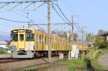 2020年4月25日 6時40分ころ。元加治。9105Fの上り回送列車。