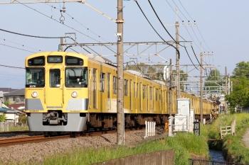 2020年5月2日 6時40分ころ。元加治。2069F+2461Fの上り回送列車。