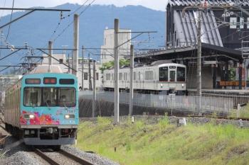2020年5月23日。西武秩父/御花畑〜影森。7507ほかの秩父鉄道の影森ゆきと、4001Fの西武鉄道の飯能ゆき。