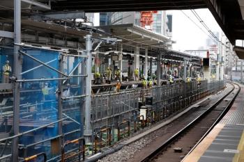 2020年5月31日 14時半ころ。渋谷駅。ホーム中央から南側を見てます。