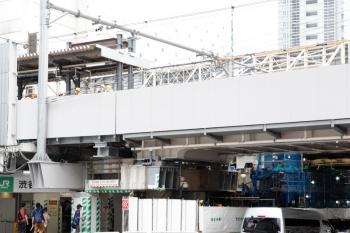 2020年5月31日 15時半ころ。渋谷。東側から、ホーム北端を見てます。