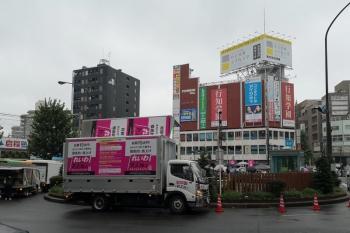 2020年6月19日 お昼。高田馬場駅前。