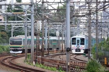 2020年6月20日 10時38分ころ。高田馬場〜西武新宿。4009Fの上り回送列車が姿を見せました。