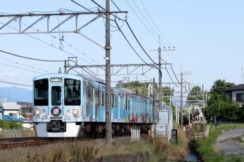2020年6月20日 7時10分ころ。元加治。通過する4009Fの上り回送列車。