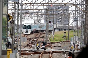 2020年6月20日 11時39分ころ。所沢。4番ホームから発車し西武秩父へ向かう4009Fの下り列車。