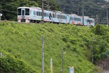 2020年6月20日 14時51分ころ。横瀬。秩父方の引き上げ線から車両基地側の電留線へ進む4009F回送列車。