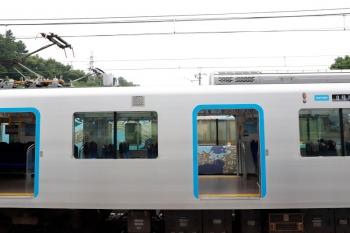 2020年6月27日 15時48分ころ。横瀬。2番ホームから撮影。S-Trainの40106Fと4009Fのシングルアームパンタグラフが上昇してます。