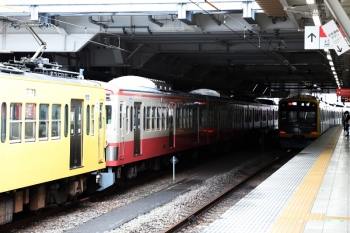 2020年7月4日。所沢。263F+1247F(左)と東急4110F(ヒカリエ号)の1703レ。
