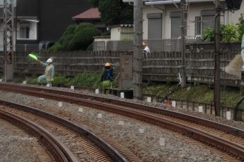 2020年7月6日。秋津〜所沢駅間。下り列車の車内から。