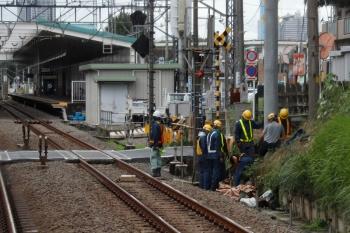 2020年7月6日。秋津駅の清瀬方。下り列車の車内から。