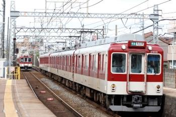 2020年7月16日 8時21分ころ。米野。2909ほかの準急 名古屋ゆき3724レ。左奥に下り急行列車が見えてます。