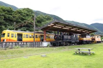 2020年7月16日 14時5分ころ。西藤原。富田ゆきの801ほか3連と、保存車両。