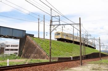 2020年7月16日 12時17分ころ。近鉄富田〜大矢知。JRをまたいで近鉄富田へ向かう三岐鉄道の上り列車。