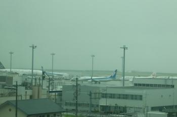 2020年7月17日 16時15分ころ。中部国際空港。名鉄の電車内から見えたジェット機。