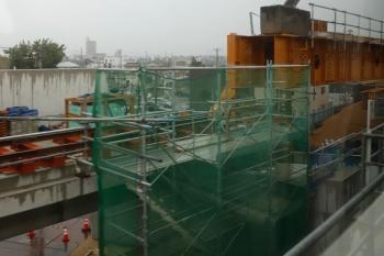 2020年7月17日 13時過ぎ。知立〜牛田。名古屋本線の東側に並行して建設中の高架線。