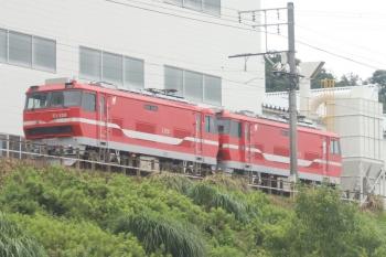 2020年7月17日 14時47分ころ。藤川〜名電中山。車内から、舞木検査場に留置のEl120形2両が見られました。
