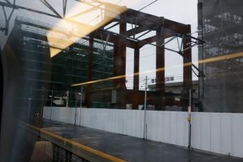 2020年7月17日 15時過ぎ。知立。こちらは豊橋から帰りのときの撮影です。かなり大規模な高架駅となるようです。