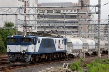 2020年7月17日 6時38分ころ。神宮前。EF64-1039牽引の、三岐鉄道〜中部電力火力発電所間の貨物列車が通過しました。f