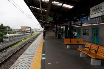 2020年7月18日 9時16分ころ。西武秩父。元町・中華街からS-Train 1号で到着した40102F(右)と、秩父鉄道の電車。