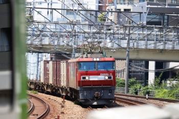 2020年8月2日 12時4分ころ。五反田。EH500-11が牽引のJR貨物・3086レ。