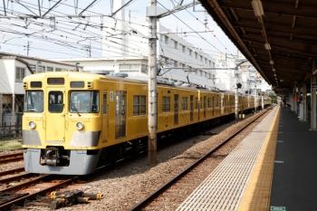2020年8月18日 9時55分ころ。上石神井。西武新宿から到着した2007F+2507Fの下り回送列車。