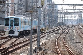 2020年8月18日 14時31分。練馬。4009F(52席)の下り列車が2番ホームから豊島線へ入ります。