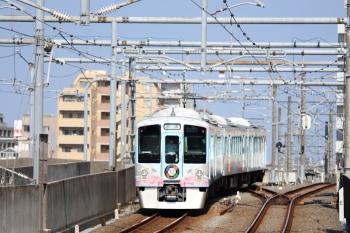 2020年8月18日 15時8分ころ。練馬。3番ホームから引き上げ線へ入る4009Fの回送列車。