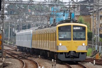 2020年8月23日 11時1分ころ。西所沢。近づいてくる263F+40153F5両の下り回送列車。