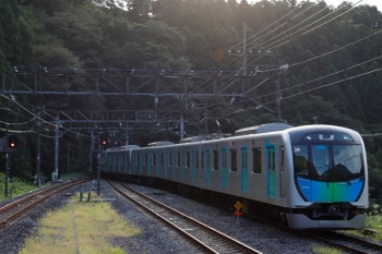 2020年8月30日 16時39分ころ。芦ケ久保。横瀬方から40104Fの上り回送列車が到着。