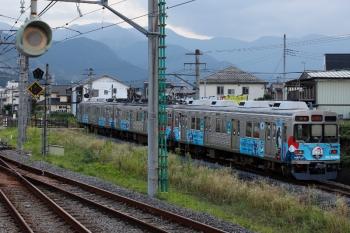 2020年8月31日 15時19分ころ。御花畑〜影森。西武秩父駅のホームから見えた秩父鉄道の三峰口ゆき。