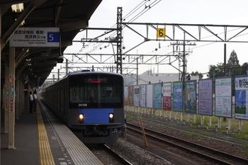 2009年7月15日 6時43分頃、所沢、通過する20158Fの下り回送列車。
