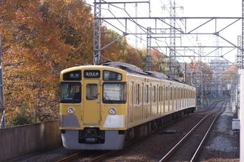 2009年11月28日、東大和市、発車した2507Fの5951レ。