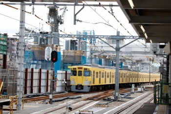 2020年9月6日。東村山。発車した、2003Fの新宿線・上り各停5624レ。