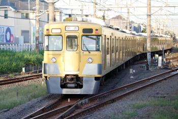 2020年9月8日 5時45分ころ。田無。中線から下り方へ発車した2007F+2407Fの回送列車。