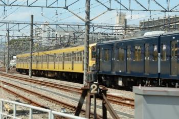 2020年9月8日。玉川上水車両基地。留置中の9108F。奥に見えるのは、小川駅で追い抜いた1249Fです。